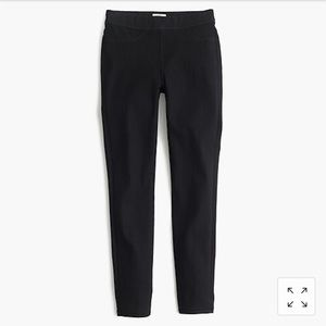 Jcrew black pull on skinny jeans 26 toothpick